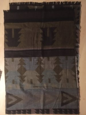 Pieces Fringed Scarf multicolored