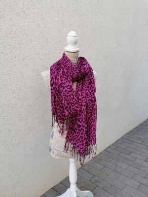 Tchibo / TCM Chal veraniego negro-rosa