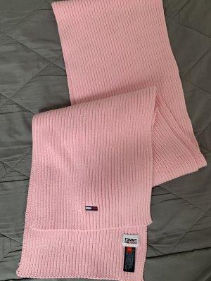 Tommy Hilfiger Bufanda de punto color rosa dorado
