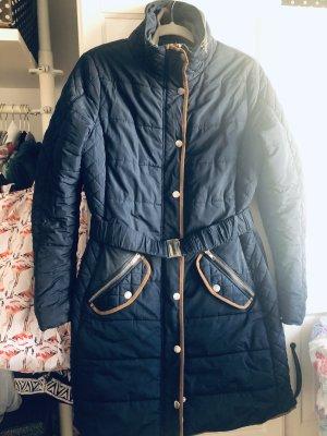 Tom Tailor Pikowany płaszcz niebieski-camel