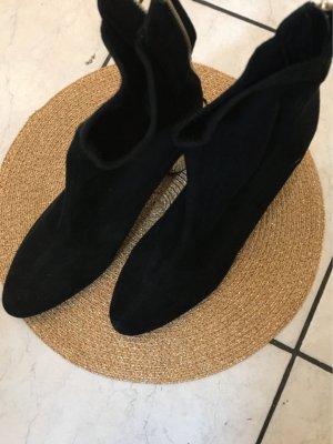 100% Fashion Stivaletto con zip nero Velluto