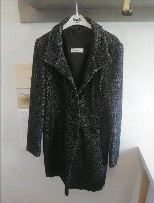 Schöner schwarz grauer Mantel von S. Milton mit Wolle