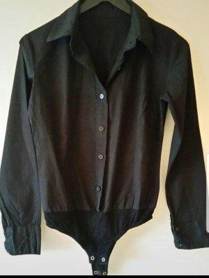 Schöner schwarzer Blusenbody Gr. S