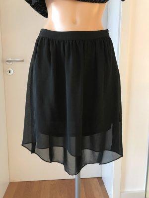 Only Rozkloszowana spódnica czarny Poliester