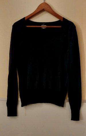 Kraagloze sweater zwart