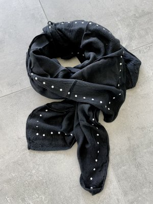 Schöner schwarzer Schal mit Nieten - NEU!