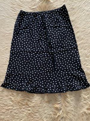 3 Suisses Falda midi negro-blanco
