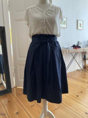 Hennes Collection by H&M Jupe ballon bleu coton