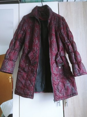 BC Collection Quilted Coat bordeaux-silver-colored polyacrylic