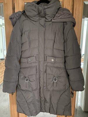 Mexx Pikowany płaszcz szaro-brązowy