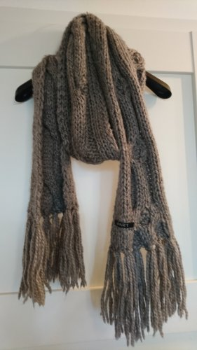 Apart Knitted Scarf light grey-grey