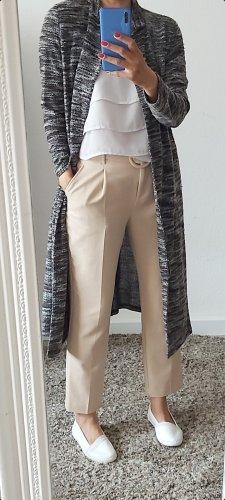 Cappotto a maglia bianco-nero