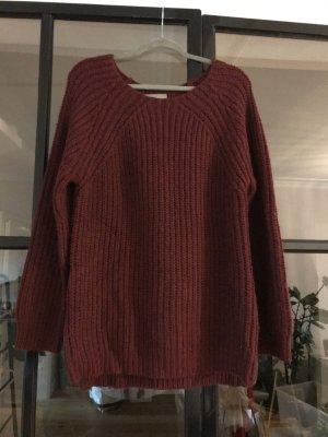 Zadig & Voltaire Sweter z dzianiny czerwona jeżyna