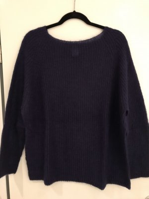 Angela Davis Knitted Sweater dark violet