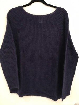 Angela Davis Knitted Sweater dark violet