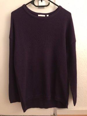 Charles Vögele Knitted Sweater dark violet