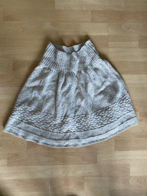 Promod Knitted Skirt natural white-cream