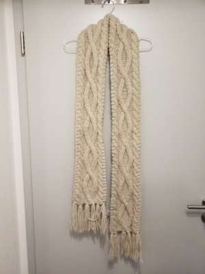 H&M Divided Knitted Scarf oatmeal