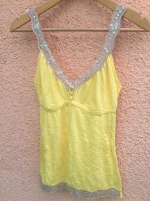 Melrose Kanten topje geel