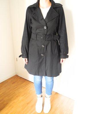 Schöner Trenchcoat / Mantel von H&M, schwarz, Größe 40