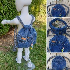 Schöner Turnbeutel - Jeans/Stoff