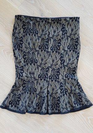 Rinascimento Koronkowa spódnica czarny-kremowy Poliester