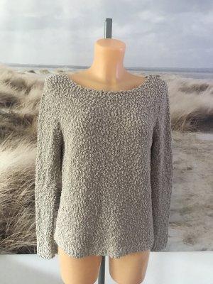Schöner weicher Bouclé-Pullover mit Silberfäden * Größe L * 40/42