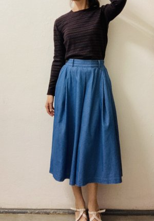Circle Skirt cornflower blue-blue