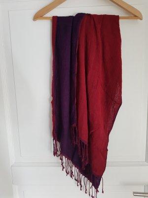 TCM Écharpe rouge carmin-violet