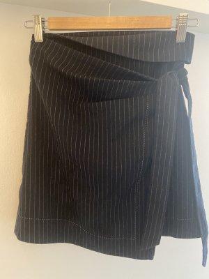 Mango Wraparound Skirt white-dark blue