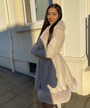 Fashion Nova Fake Fur Coat cream-natural white