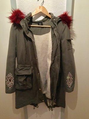 BC Collection Winterjas khaki-donkerrood