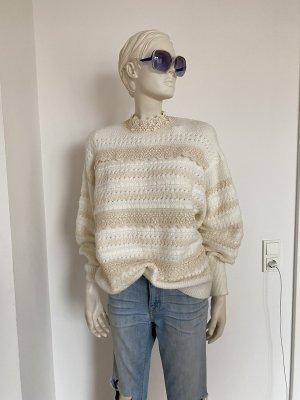 Zara Oversized Sweater natural white-cream