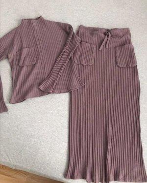 Zara Twin Set punto lila grisáceo-malva