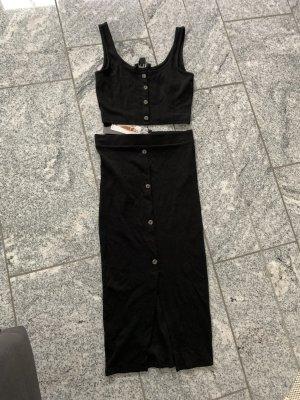 New Yorker Twin set in maglia nero