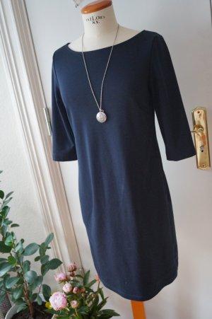 Schönes 3/4 Arm Kleid blau Gr.38 Anne L.