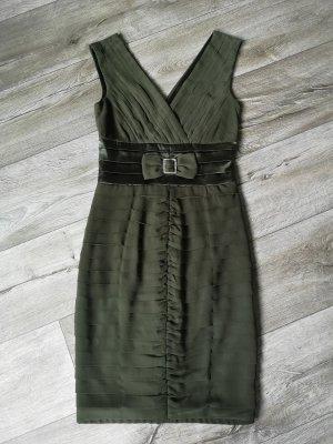 Heine Pencil Dress khaki polyester