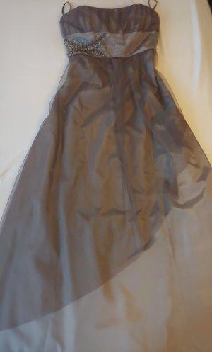 Schönes Abendkleid von Zero, Gr.L/XL, 42, braun, grau, lang