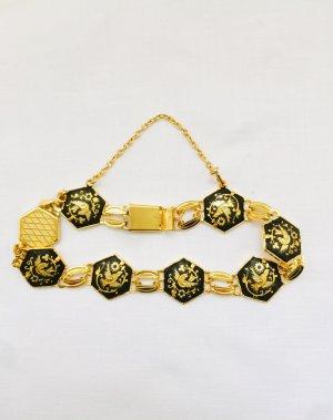 Schönes Armband in Gold und Schwarz