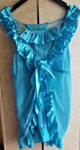 Obsessive Peniuar jasnoniebieski Poliamid