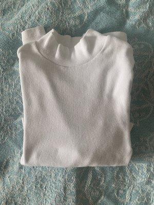 Zara Camisa de cuello de tortuga blanco