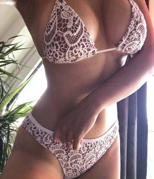 Hot Miami Styles Bikini beige-white
