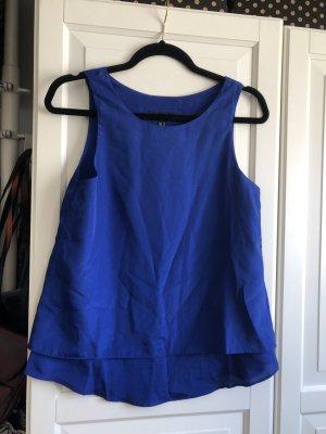 Schönes blaues Top von Mango XS  wenig getragen, blau Navy marineblau