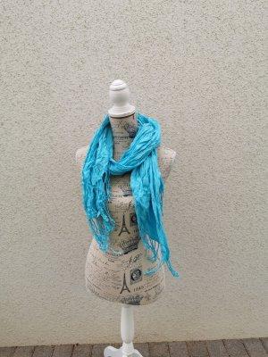 schönes blaues Tuch