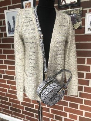 ATMOSPHÄRE Cardigan en crochet beige clair-doré