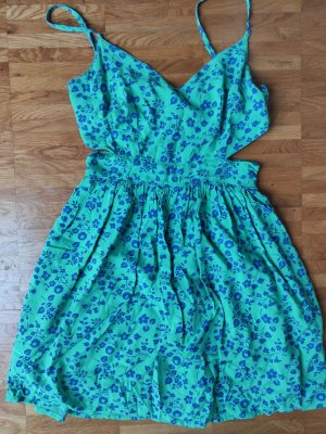 Abercrombie & Fitch Mini vestido azul-verde Viscosa