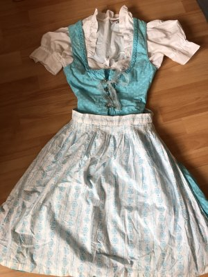 Country Line Dirndl white-baby blue