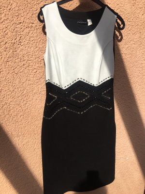 Amy Vermont Ołówkowa sukienka biały-czarny