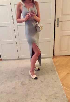 Vestido de tubo color plata