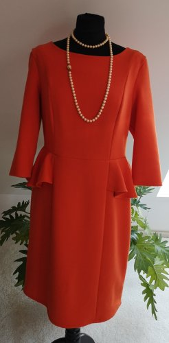 Mint&berry Peplum Dress orange